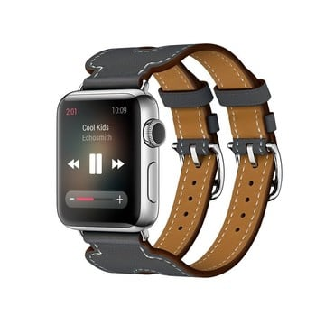 The Best Non-Apple Gray Hermès Double Buckle Cuff Apple Watch Band