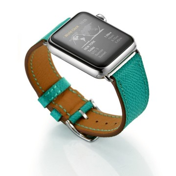 The Best Non-Apple Turquoise Hermès Single Tour Apple Watch Band