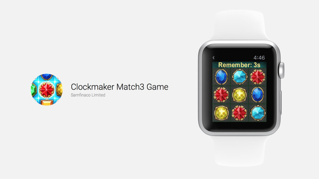 Clockmaker Match3 Game is a Memory Game on the Apple Watch